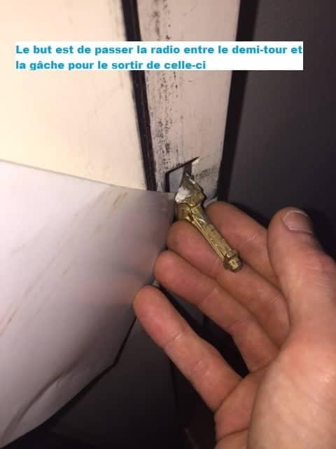 Comment ouvrir une porte claquée ?